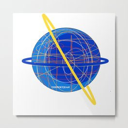 Out of This World Threads Metal Print