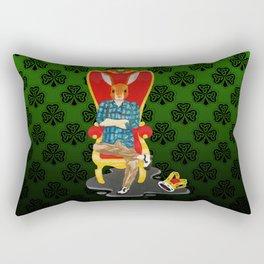 The Irish hare on the throne Rectangular Pillow