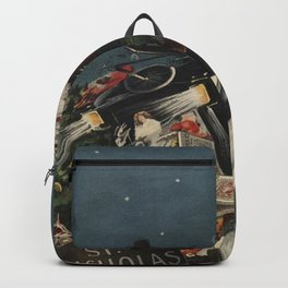 Vintage Santa Claus in a Motorized Sleigh (1920) Backpack