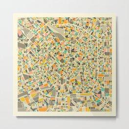 Milan Map Metal Print