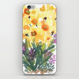 Spring Daffodil Patch iPhone Skin