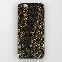 Black Gold Snake Skin iPhone Skin