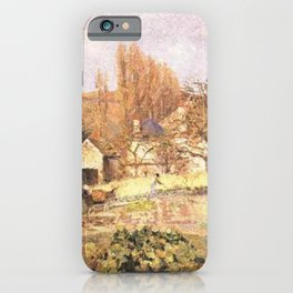 Kitchen Garden At The Hermitage Pontoise 1874 By Camille Pissarro | Reproduction | Impressionism Pai iPhone Case