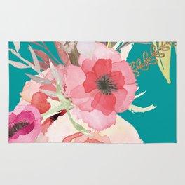 Flowers , floral , shabby chic décor,  flower decor , Rug
