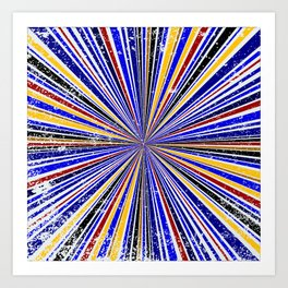 Glare Rays Background Art Print