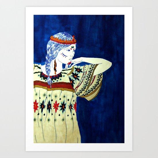 Indian Girl Art Print