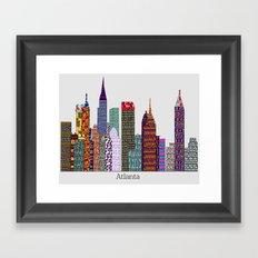 Atlanta city skyline  Framed Art Print