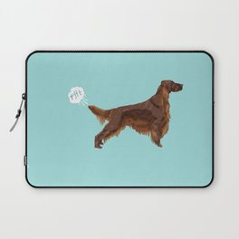 Irish Setter farting dog cute funny dog gifts pure breed dogs Laptop Sleeve