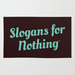 Green Slogans for Nothing Rug