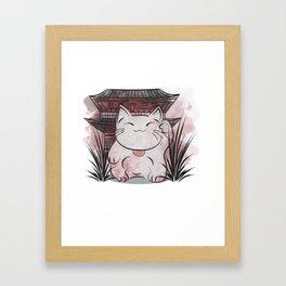 ManekiNeko Framed Art Print