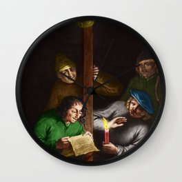 """Can You Show Me"" Portrait Painting by Jeanpaul Ferro Wall Clock"
