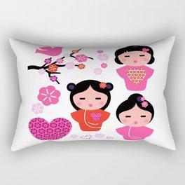 Little love Geishas, love design elements Rectangular Pillow
