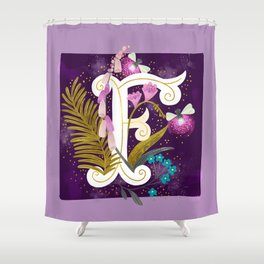 Artsy Alphabet: F Shower Curtain