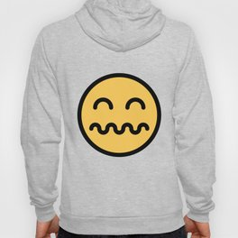 Smiley Face   Distressed Face Hoody
