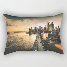 nyc skyline at dusk Rectangular Pillow