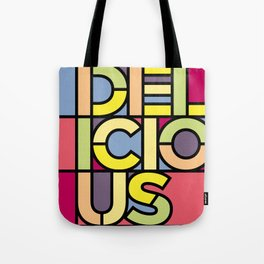 Delicious - Stained Glass Tote Bag
