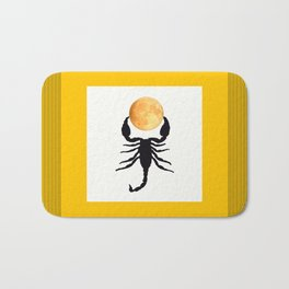 A Scorpion With The Moon In The Frame #decor #homedecor #buyart #pivivikstrm Bath Mat