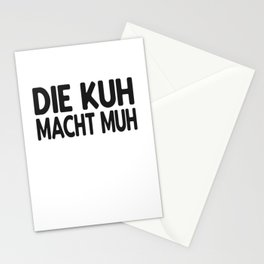 Kuh lustiger Spruch Stationery Cards