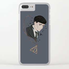 Credence Barebone + Deathly Hallows necklace Clear iPhone Case