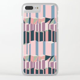 Straight Geometry City 1 Clear iPhone Case