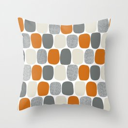 Wonky Ovals in Orange Throw Pillow