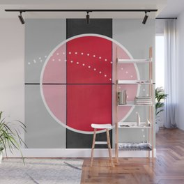 August - black and white graphic Wall Mural