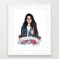 lana del rey Framed Art Prints featuring Del Rey, Lana by boypetal
