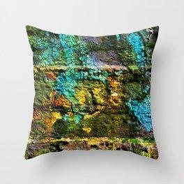 mossy brick texture Throw Pillow