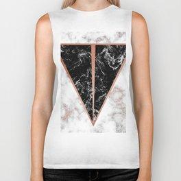 Black marble triangle shape Biker Tank
