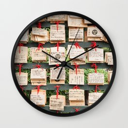 Prayers and Good Wishes Wall Clock