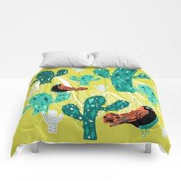 cactus with birds Comforters