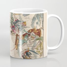 Pictorial Celestial Map with Constellations Ursa Major and Ursa Minor Coffee Mug