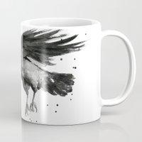 raven Mugs featuring Raven by Olechka