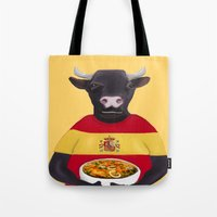 spanish Tote Bags featuring The Spanish by Dano77