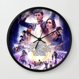 Ready Player One poster Wall Clock