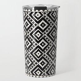 N82 - Geometric Traditional Moroccan Art Pattern Farmhouse Style Travel Mug