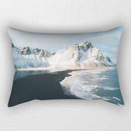 Iceland Mountain Beach - Landscape Photography Rectangular Pillow