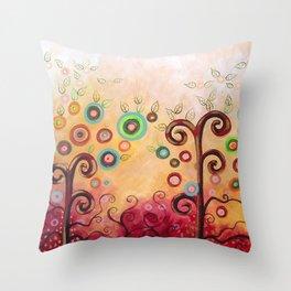 Bliss en grana Throw Pillow