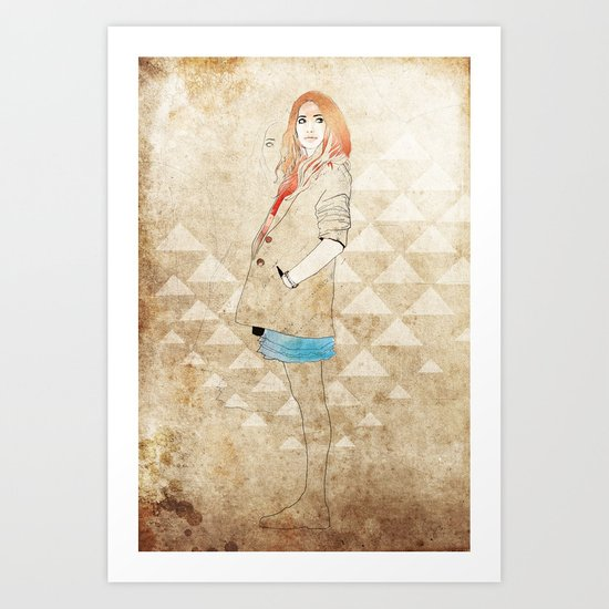 Girl One Art Print