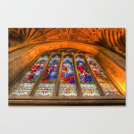 Stained Glass Abbey Window Canvas Print