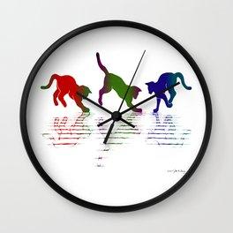 CATS RAINBOW II Wall Clock