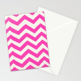 PINK CHEVRON PRINT Stationery Cards