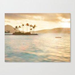 Oahu Golden Hour / Beach Photography Canvas Print