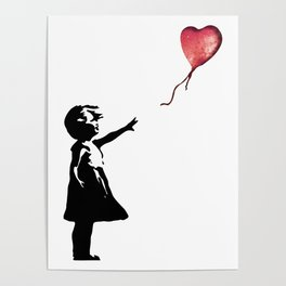 Banksy cosmic balloon Poster