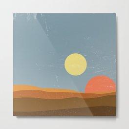 Desert Morning - Tatooine Edition Metal Print