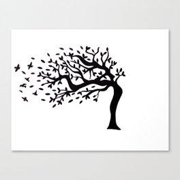 Tree Birds x2 Canvas Print