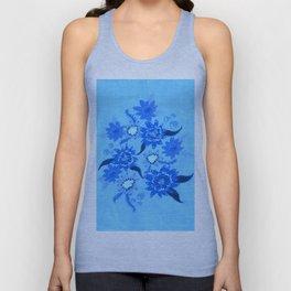 Crystal Blue Violets Unisex Tank Top