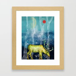Golden Deer Framed Art Print