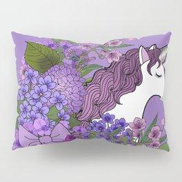 Unicorn in a Purple Garden Pillow Sham