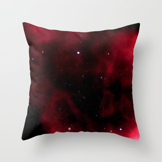 Nebula Red Throw Pillow
